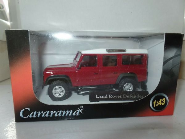 Cararama 1/43 O Scale Land Rover Defender 110 4  Door Red Maroon White Roof